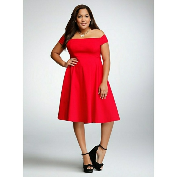 9892f2fd91087 Torrid Valentine s Day Slimming Party Dress 20 Red